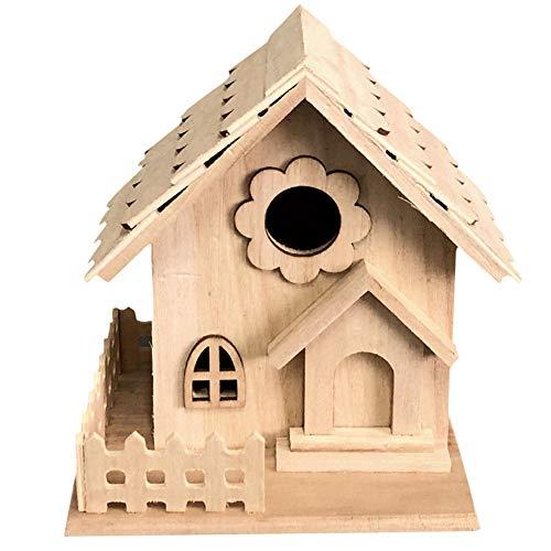 PowerBH Decorazione d'attaccatura di Giardinaggio del Giardino del Nido dell'uccello della Decorazione da tavolino Creativa del Legno Massiccio