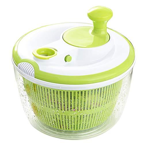 tebery centrifughe per insalata dryer, cucina centrifughe scolaverdure con il pulsante di arresto, grande capacità, spin facile per insalate più gustose e lavabile in lavastoviglie