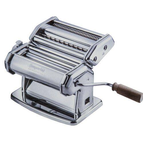 Imperia Macchina per Pasta  Manuale con Manovella Sfogliatrice, acciaio cromato