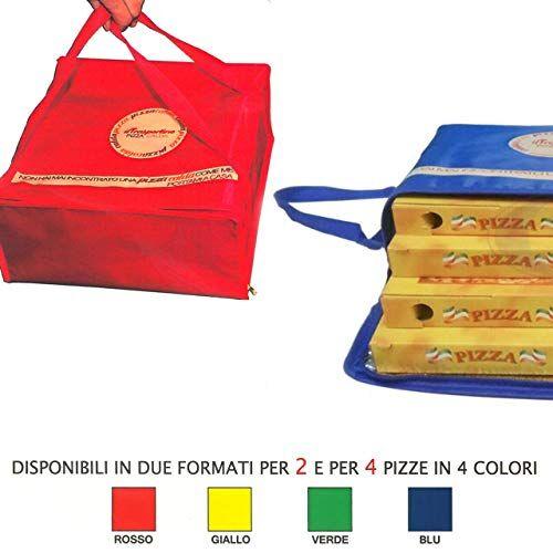 cbi portapizza termico trasportino 2 posti oppure 4 posti contenitore box trasporto pizza (4 posti)
