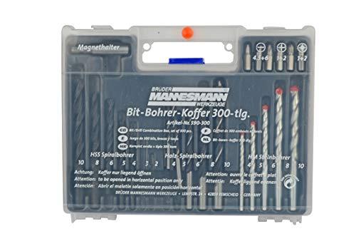Brüder Mannesmann Werkzeuge Mannesmann - M  590-300 – Set punte per trapano e tasselli 300 pz.