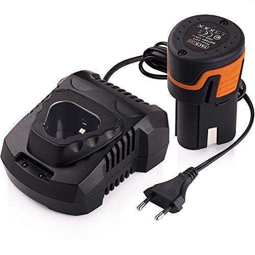 TACKLIFE Batterie agli Ioni di Litio 12V 2000mAh per Avvitatore Elettrico Tacklife PPK01B Batteria Ricaricabile di Tensione Ampia 100-240V Adatto per Avvitatore da Tacklife