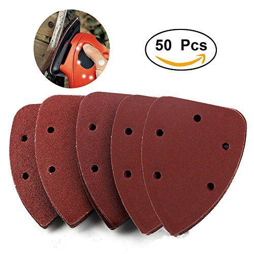 Exsart 50pz levigatrice mouse pad dischi abrasivi per Black Decker dettagli levigatrice misti 4080120180240grane