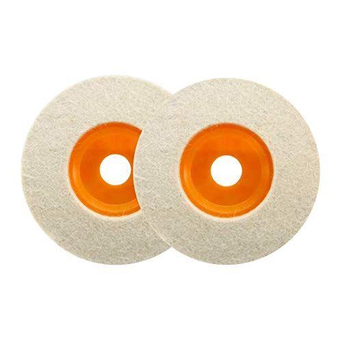haobase 2pz 4'100mm lucidatura ruota smerigliatrice angolare feltro di lana lucidatura disco