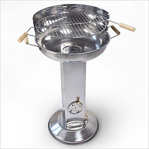 barbecue a colonna a carbone carbonella dim 65 x 43 x 83 cm acciaio inossidabile