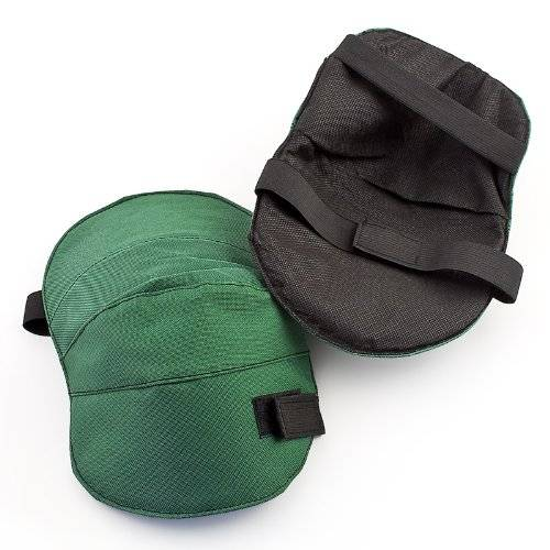 relaxdays para ginocchia ginocchiere per il giardino in velcro con fascia elastica 2 pezzi