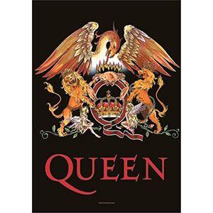 Heart Rock Bandiera Originale Queen Crest, Tessuto, Multicolore, 110x75x0.1 cm