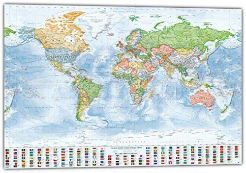J.Bauer Karten Carta gigante: Mappa politica