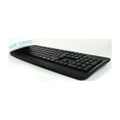 italy's cartridge tastiera pravix slim ergonomica con cavo usb - 105 tasti a sospensione, design ricurvo