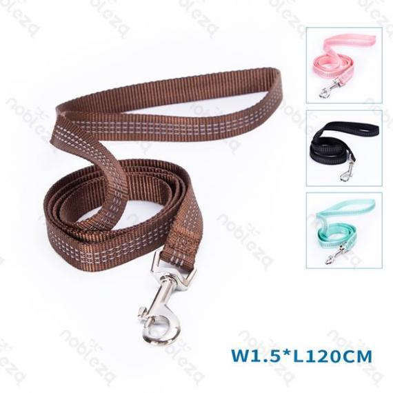 nobleza guinzaglio in nylon fluorescente per cani misura m lunghezza 120cm larghezza 1,5cm resistente nobleza disponibile 4 colori
