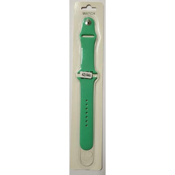 Apple cinturino in silicone verde 42mm e 44mm sportivo per apple watch serie 2-3-4-5 silicone alta qualita con chiusura pin-and-tuck
