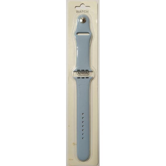 Apple cinturino in silicone celeste 42mm e 44mm sportivo per apple watch serie 2-3-4-5 silicone alta qualita chiusura pin-and-tuck