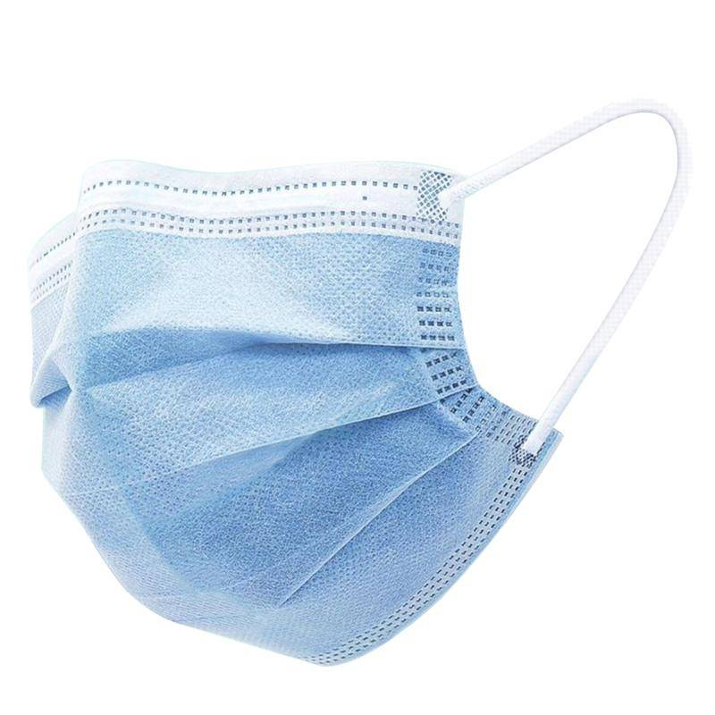 italy's cartridge mascherine monouso cf. 50pz in tnt a 3 strati con elastici - disposable medical mask