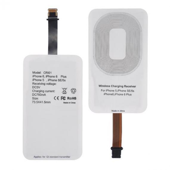 Italy's Cartridge ricevitore qi iphone - ricevitore caricabatterie wireless qi ultraslim per iphone 7 - iphone 6 - iphone 5