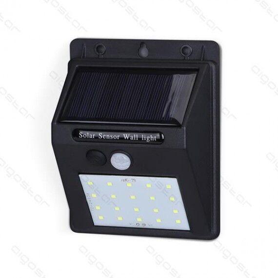 aigostar lampada solare led da parete  mod2 1.11w 80 lumen 6500k luce fredda ip65 misura l96*w124*h48mm applique muro sensore movimento