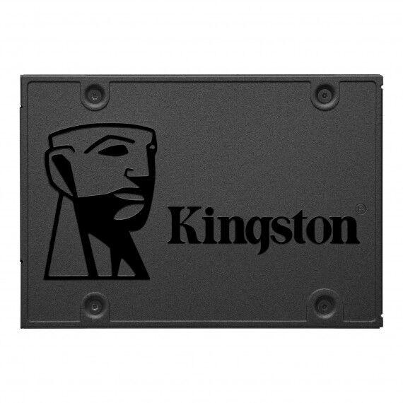 "kingston hard disk kingston a400 2,5"" ssd 480gb sa400s37/480g sata rev. 3.0 (6gb/s) sata 3 - stato solido - velocita lettura 500 mbs"