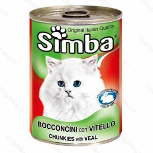 Nobleza BOCCONCINI CON VITELLO PER GATTI 415gr SIMBA - MADE IN ITALY - ALIMENTO COMPLETO COTTO AL FORNO - MONGE