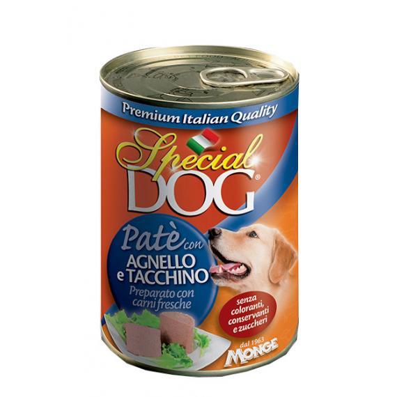 Hp pate agnello e tacchino per cani 400gr qualita premium special dog - alimento completo per tutte le razze - monge