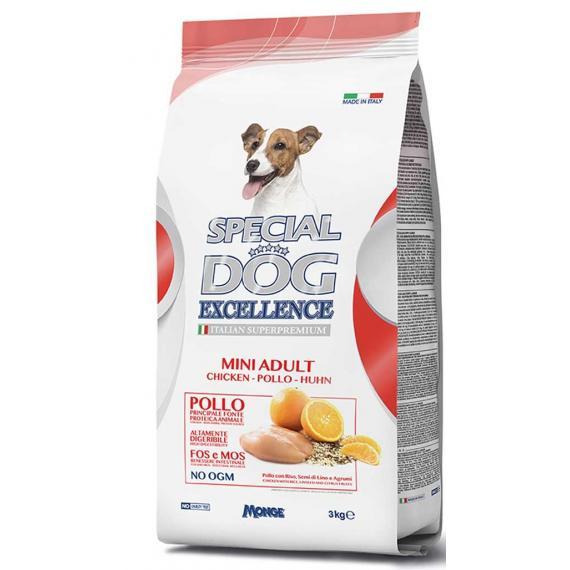 Hp crocchette per cani adulti 3kg con pollo,riso,agrumi special dog excellence mini adult italian superpremium - monge