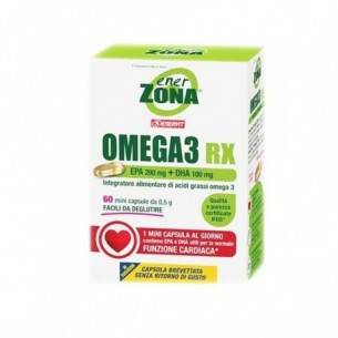 Enervit Enerzona Omega 3 Rx - integratore di acidi grassi omega 3 60 mini capsule