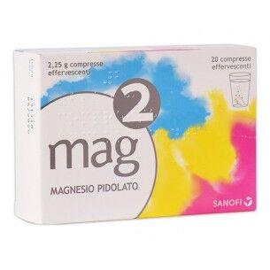 sanofi mag 2 2,25 g  20 compresse effervescenti - carenza di magnesio
