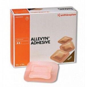 Smith & Nephew Allevyn adhesive - 10 medicazioni per ferite acute e croniche 10x10cm