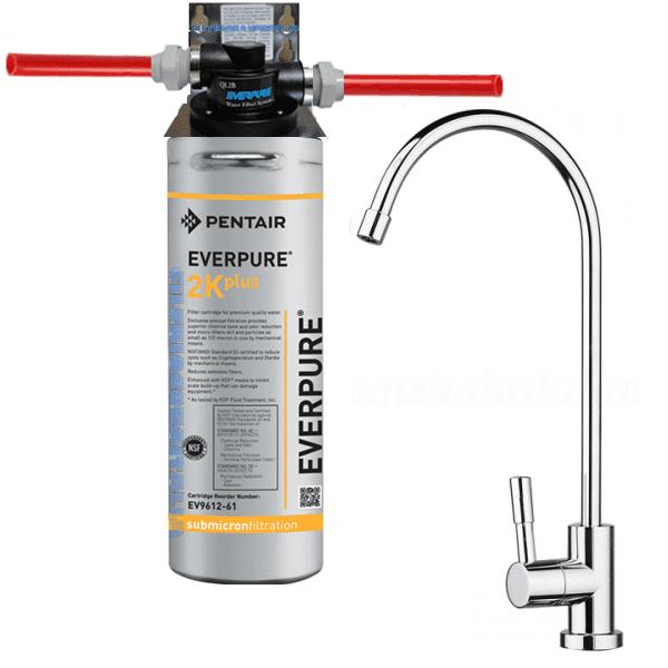 Depuratore Acqua Kit Everpure 2k Plus Con Testa Ql2b E E Rubinetto Kit Everpure 2k Plus Con Testa Ql2b E Rubinetto