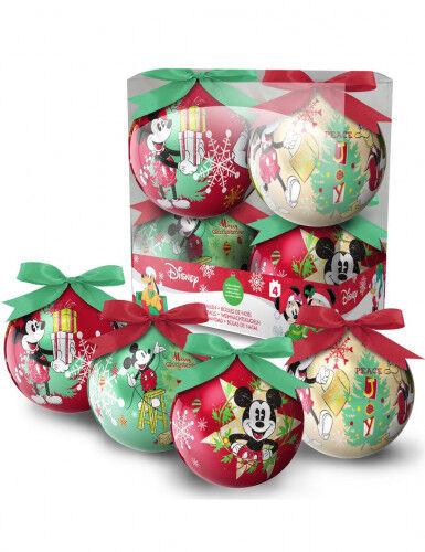 GOODMARK 4 palline di Natale Topolino 7.5 cm Taglia Unica