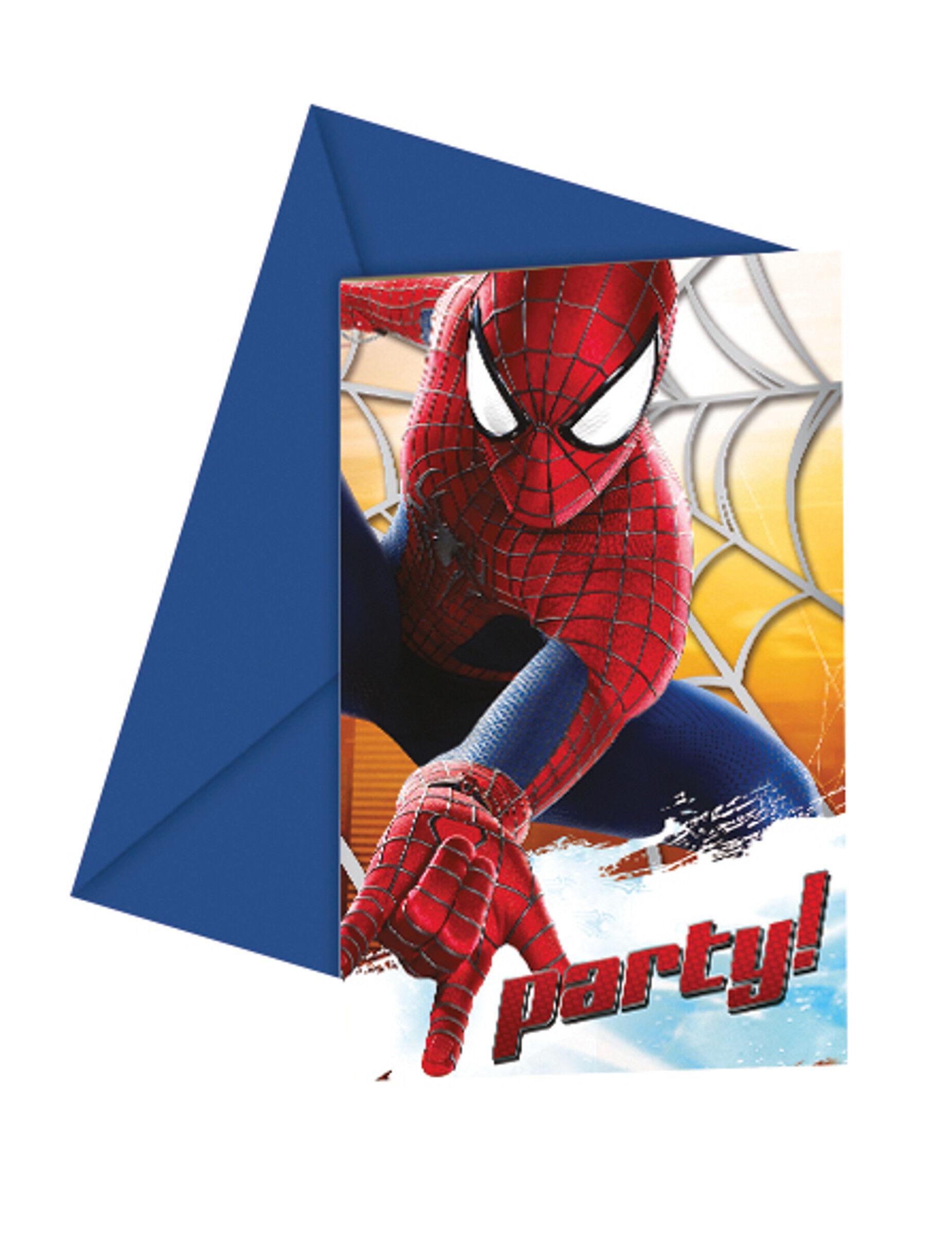 Vegaoo 6 Carte di invito The Amazing Spider-Man