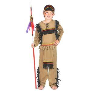 Vegaoo Costume indiano guerriero bambino - S 4-6 anni (110-120 cm)