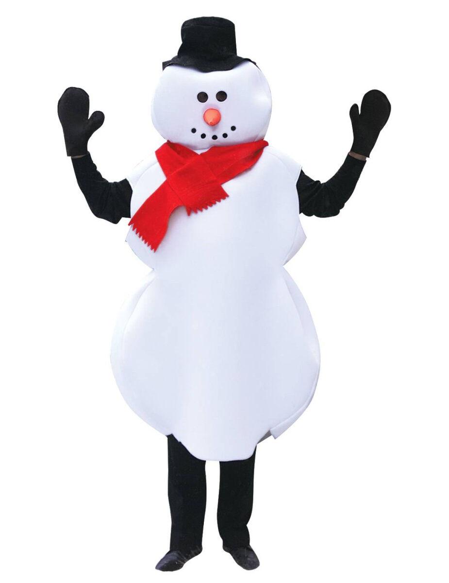 Vegaoo Costume pupazzo di neve Natale adulto