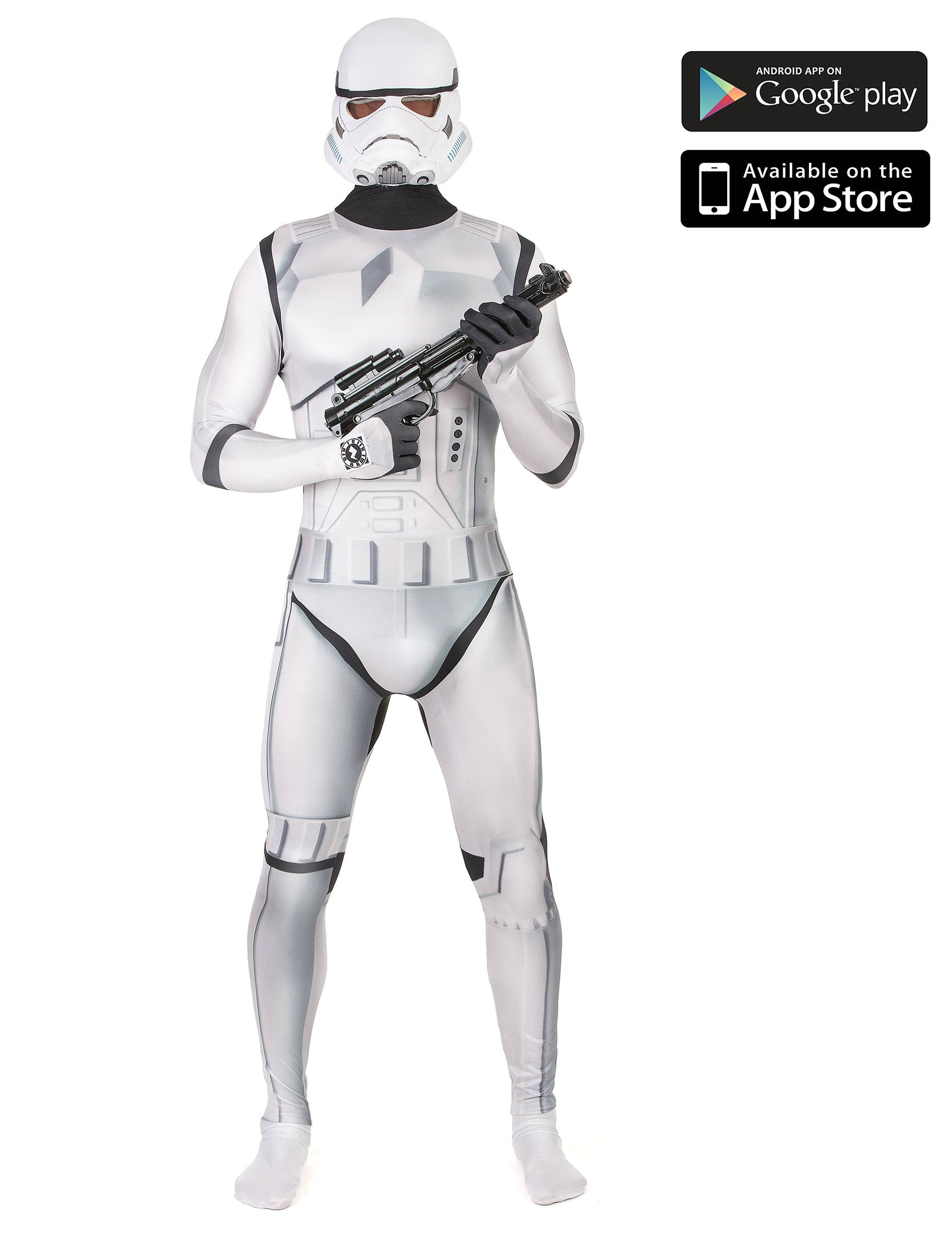 Vegaoo Costume Morphsuits Zappar Stormtrooper adulto - M (160 cm max)