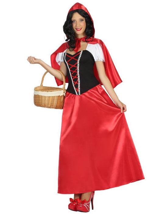 Vegaoo Costume vestito lungo Cappuccetto donna - XXL
