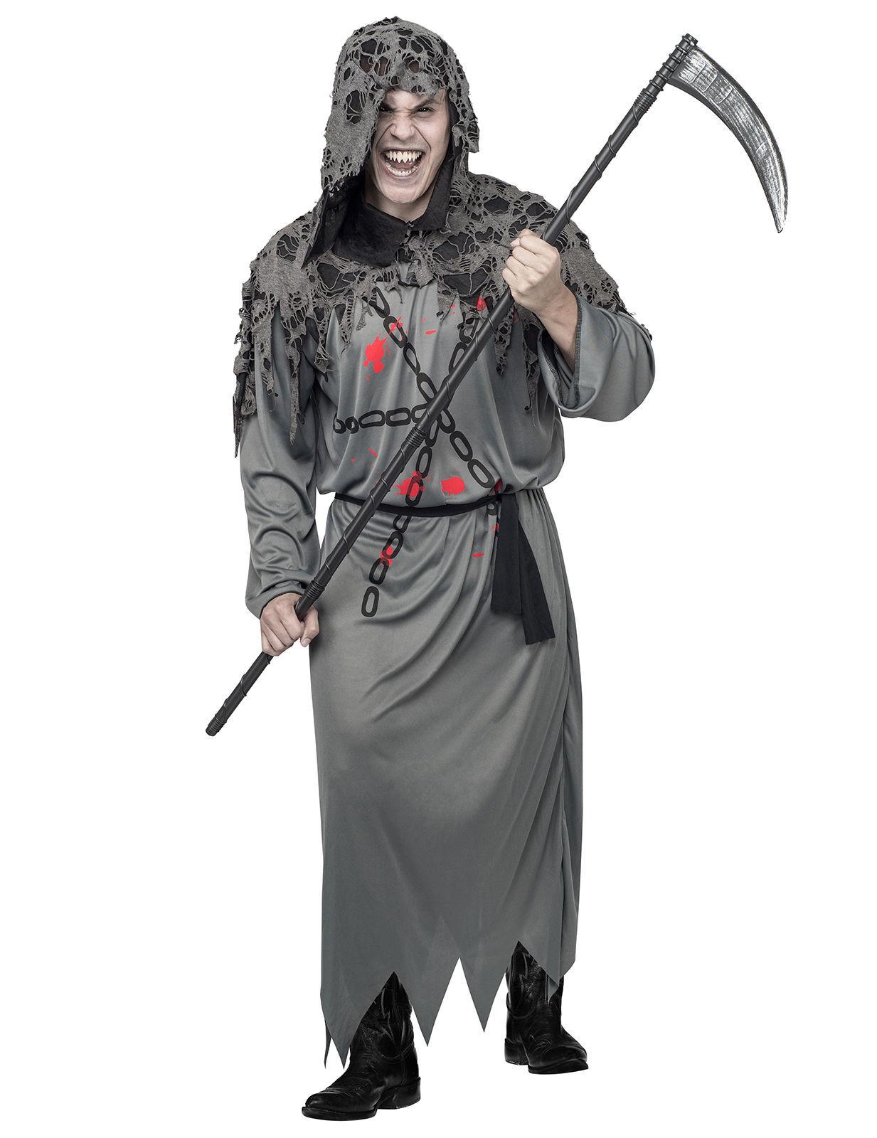 Vegaoo Costume da morte in grigio per uomo halloween - M / L