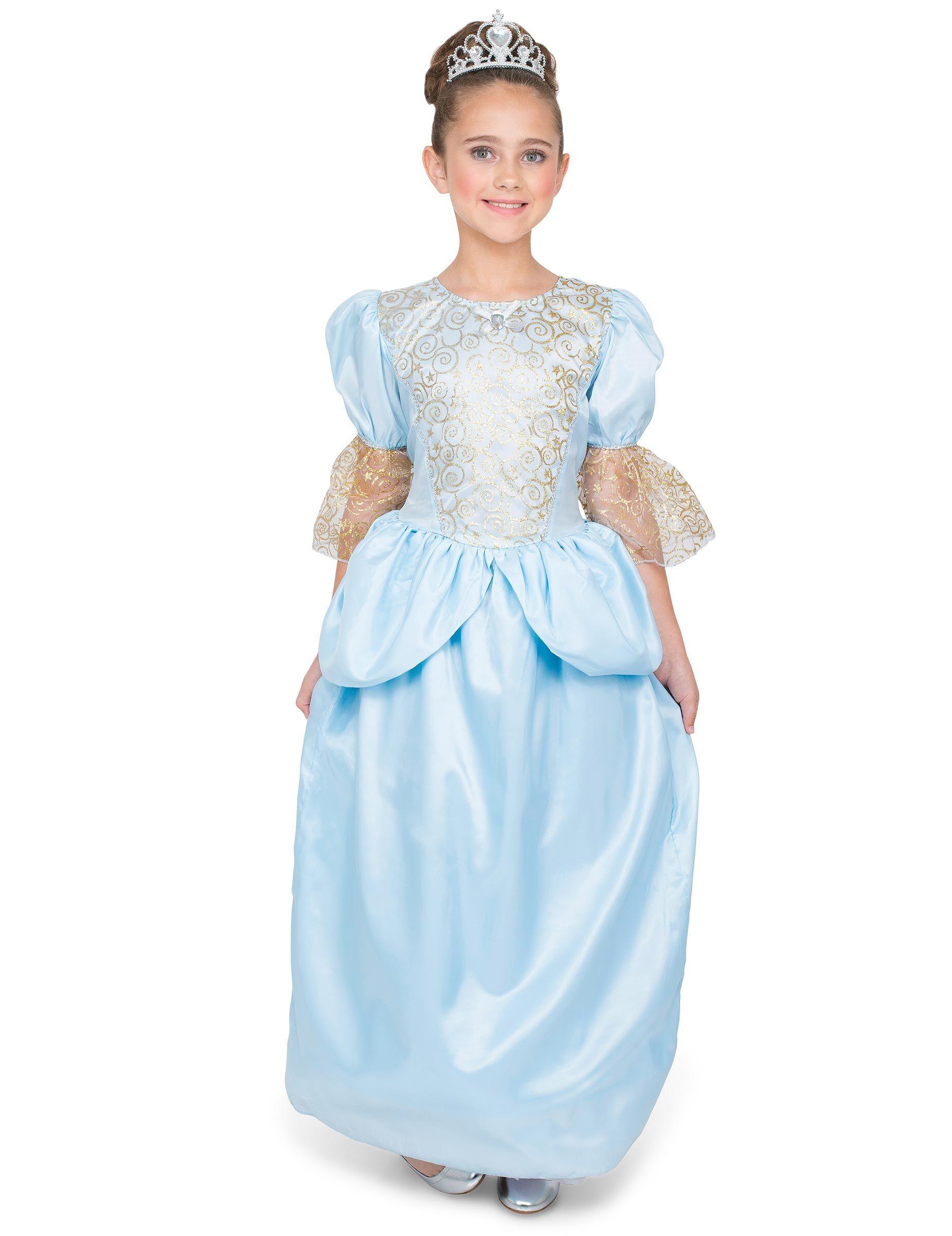 Vegaoo Costume principessa con scarpetta di vetro bambina - 7 -9 anni (130-143cm)