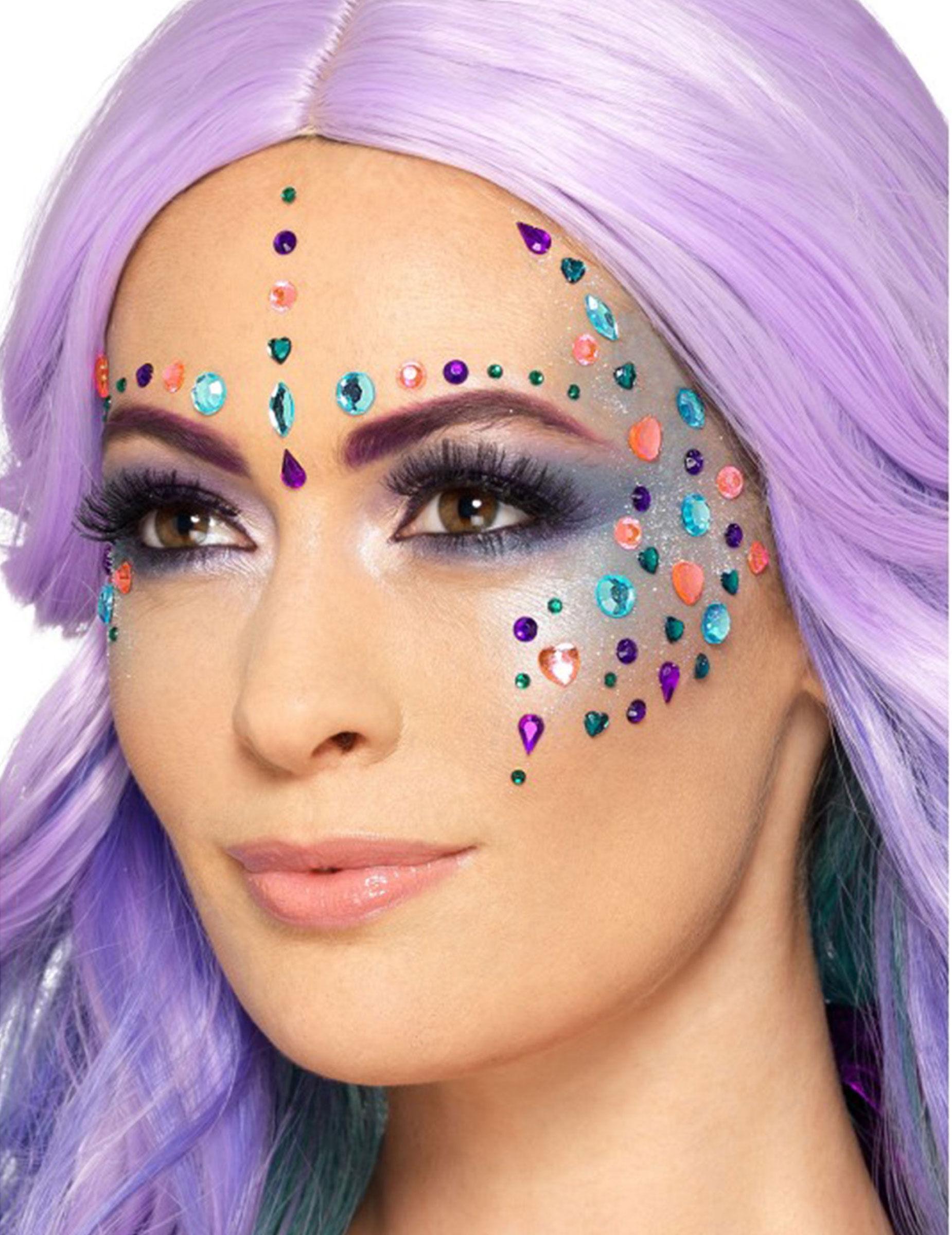 Vegaoo 100 strass multicolore per viso