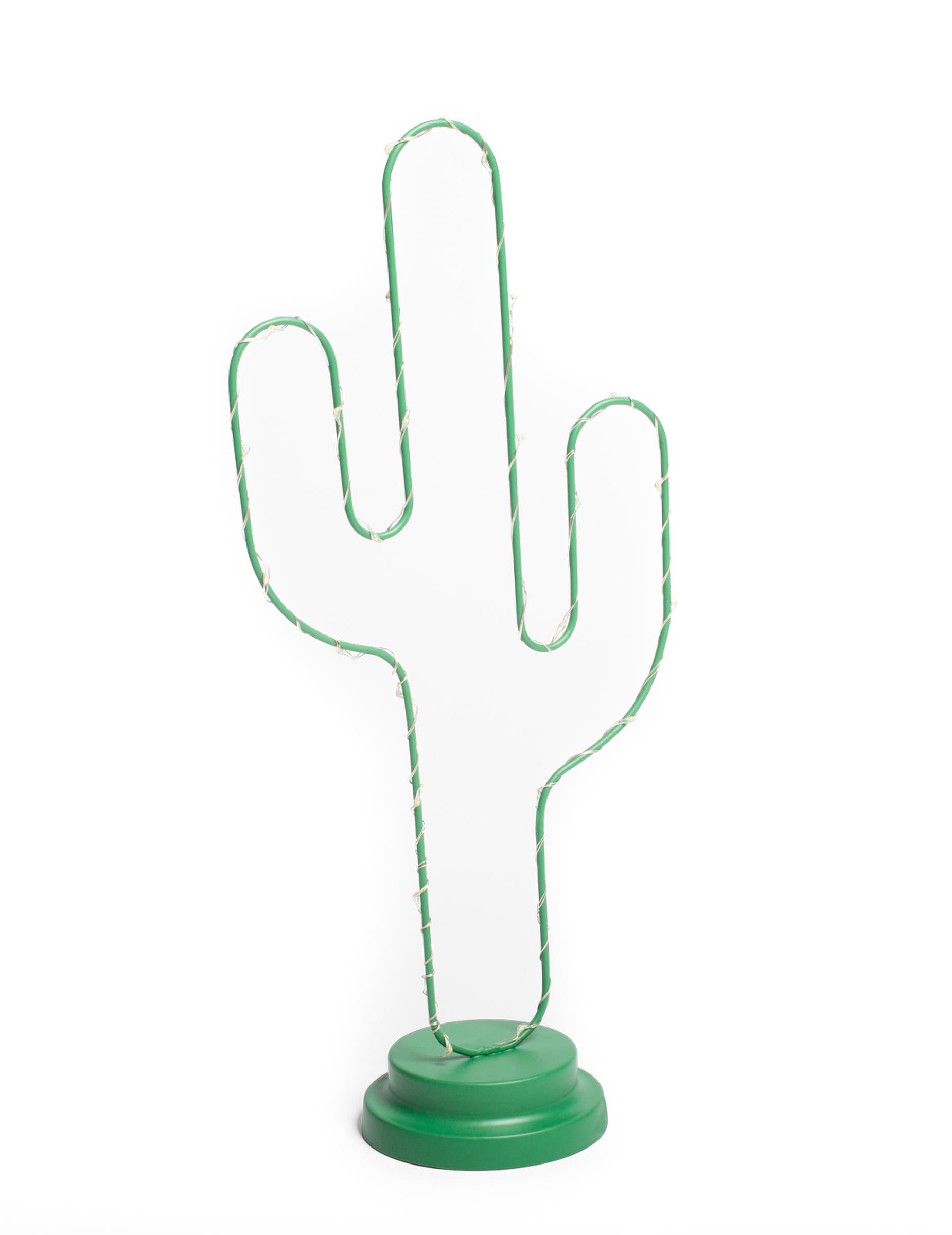 Vegaoo Decorazione cactus in metallo verde