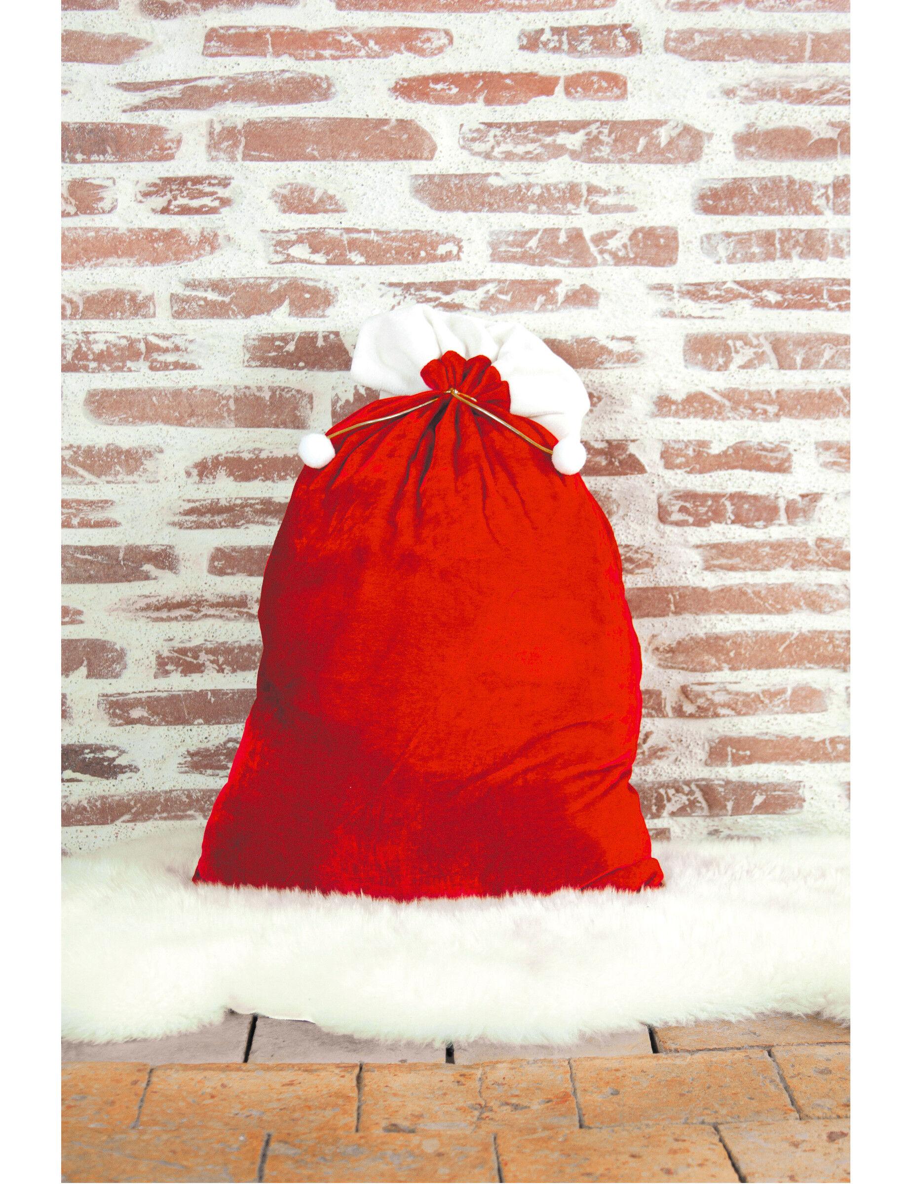 Vegaoo Sacco regali di Babbo Natale 48 x 75 cm
