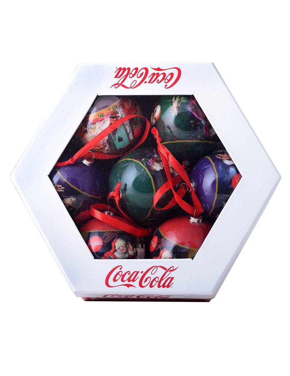 Vegaoo 7 Palline di Natale Coca Cola