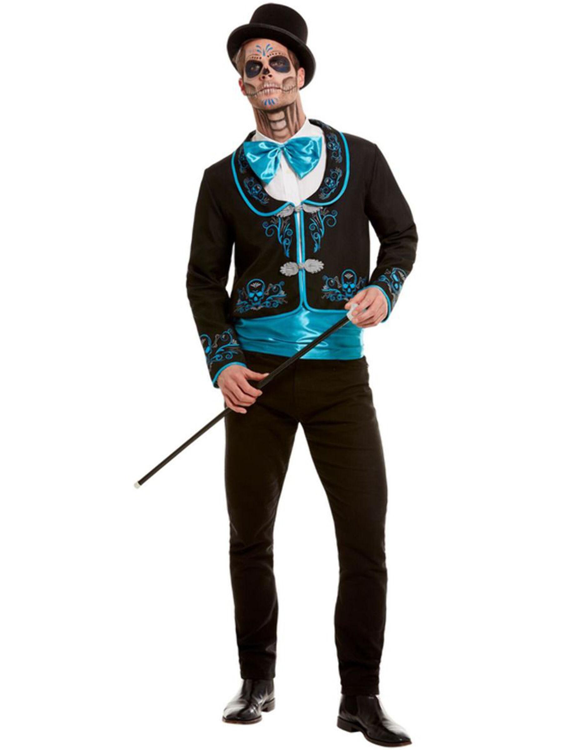 Vegaoo Costume dia de los muertos azzurro uomo - XL
