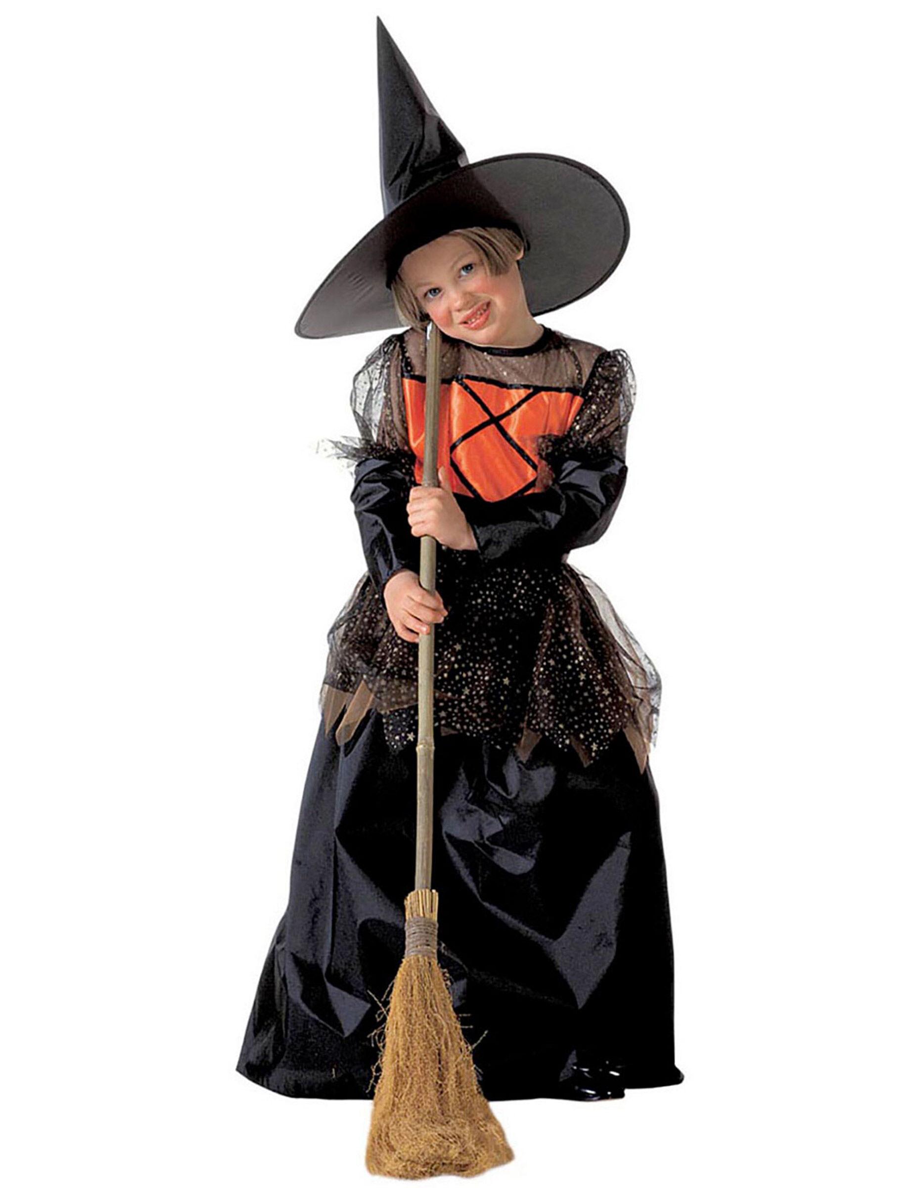Vegaoo Costume da strega elegante per bambina - 8 - 10 anni (140 cm)