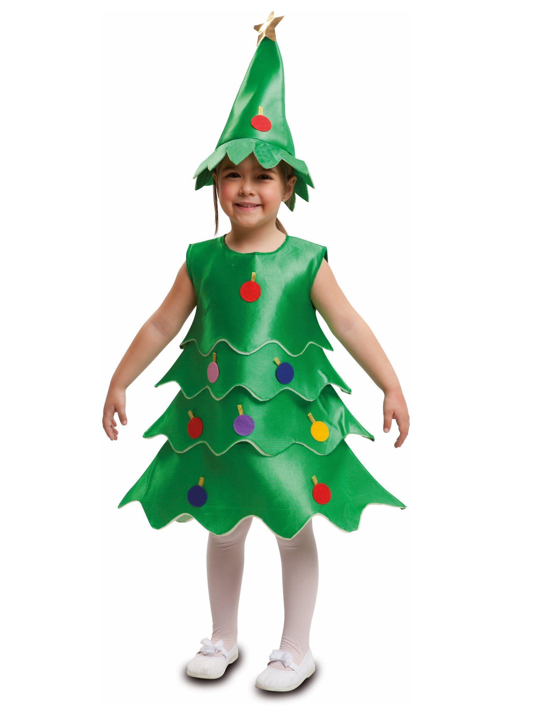 Vegaoo Costume Albero di Natale bambino - 7 - 9 anni (122 - 134 cm)