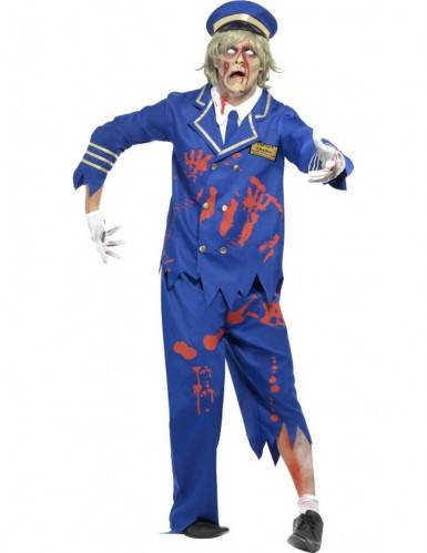 SMIFFYS Costume zombie comandante uomo halloween M