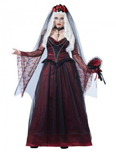 CALIFORNIA COSTUMES costume da sposa vampiro gotico per donna Halloween XS