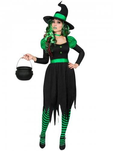 34.99€. ATOSA Costume strega nero e verde donna halloween f54e738f01bb