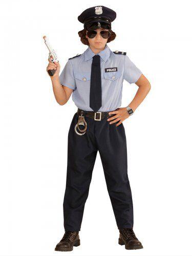 WIDMANN Costume agente di polizia per bambino 5 - 7 anni (128 cm)