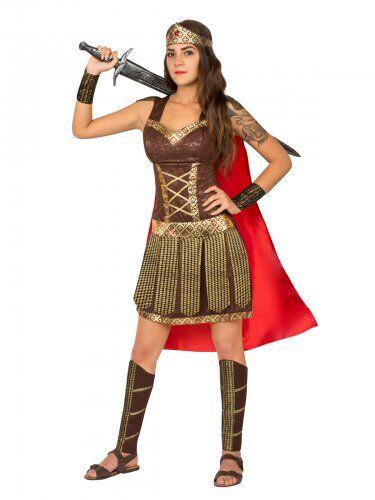 KORNER Costume gladiatrice antica roma per donna L