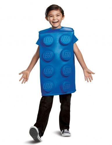 DISGUISE Costume costruzione Lego blu bambino 4-6 anni (109-124 cm)