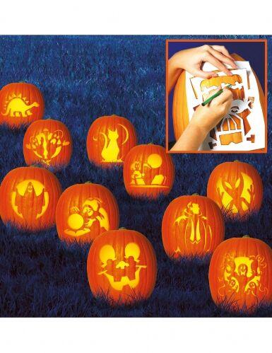 AMSCAN 10 stencil per scolpire le zucche Family Friendly Taglia unica