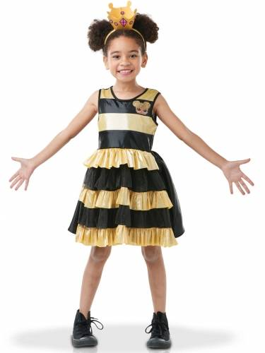RUBIES FRANCE Costume Queen Bee LOL Surprise lusso per bambina 7/8 anni (117/128 cm)